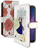 Galaxy A20 SCV46 SC-02M ケース 手帳型 魔女宅 水彩 赤 魔女の宅急便 スマホケース ギャラク……