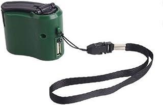 Urisgo Resor nödladdare för mobiltelefon, Dynamo handvev för utomhusbruk, handvevgenerator, USB-laddare, snabbladdningsada...