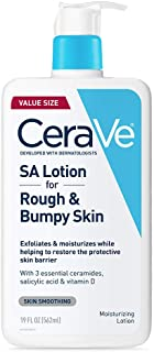 CeraVe SA Lotion for Rough & Bumpy Skin | 19 Ounce | Vitamin D, Hyaluronic Acid, Salicylic Acid & Lactic Acid Lotion | Fragrance Free