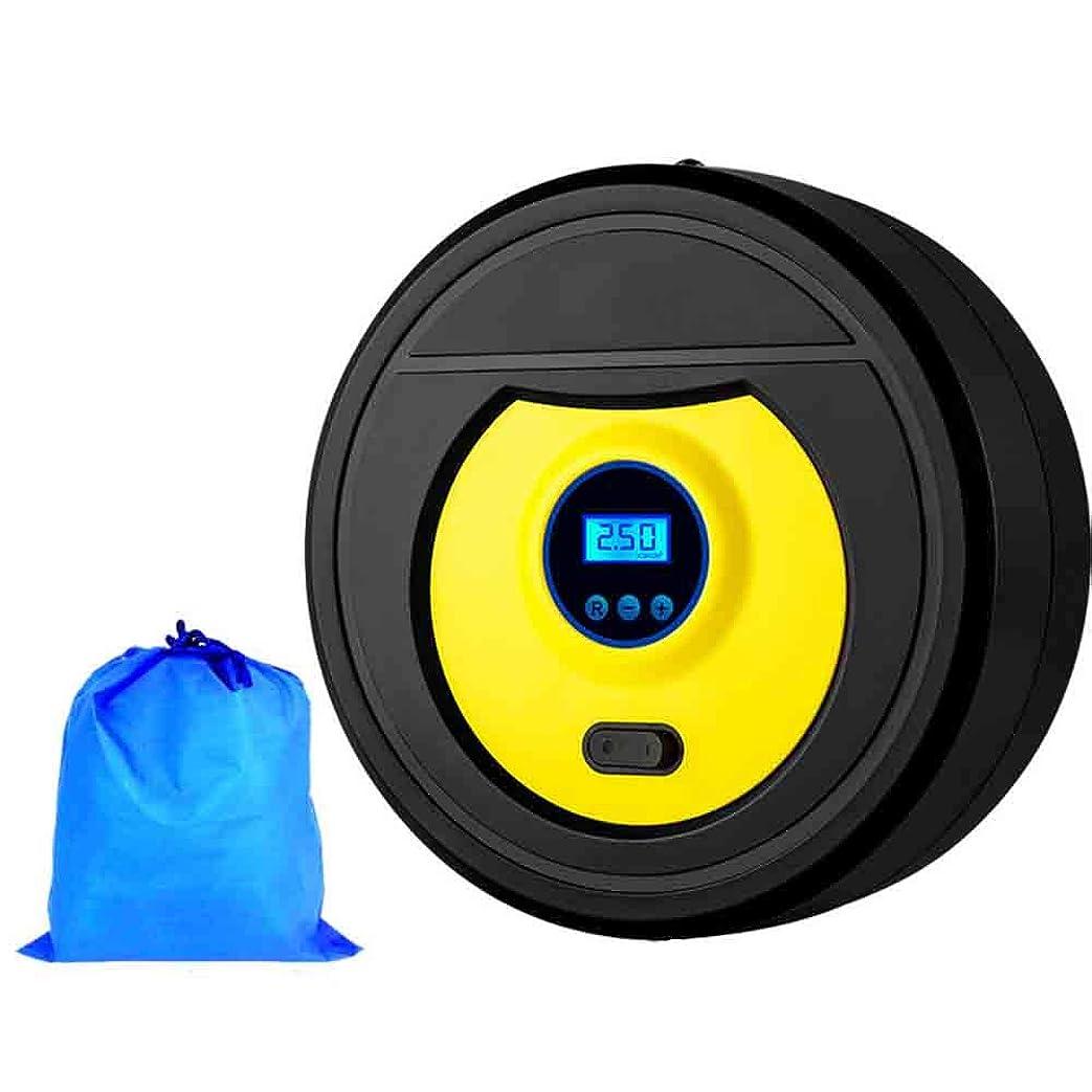 リファイン無声で人LEDライトが付いている多機能の携帯用高い発電のデジタル表示電気自動車の空気ポンプ、車のオートバイの自転車の球の膨脹のためのタイヤの空気ポンプ