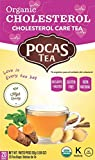 Pocas Organic Tea, Cholesterol, 1.06 Ounce, 20 Count (Pack of 6)