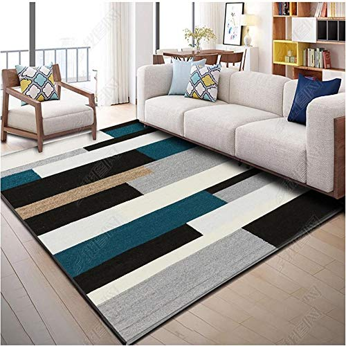 RUGMRZ Large Rugs grey Carpet salon gray simple wide stripe pattern soft carpet anti-slip Kids Carpets For In Bedroom 160X230CM Outdoor Carpet For Garden 5ft 3''X7ft 6.6''