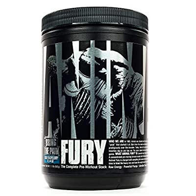 Animal Fury Pre-Workout Energy Supplement with Amino Acids