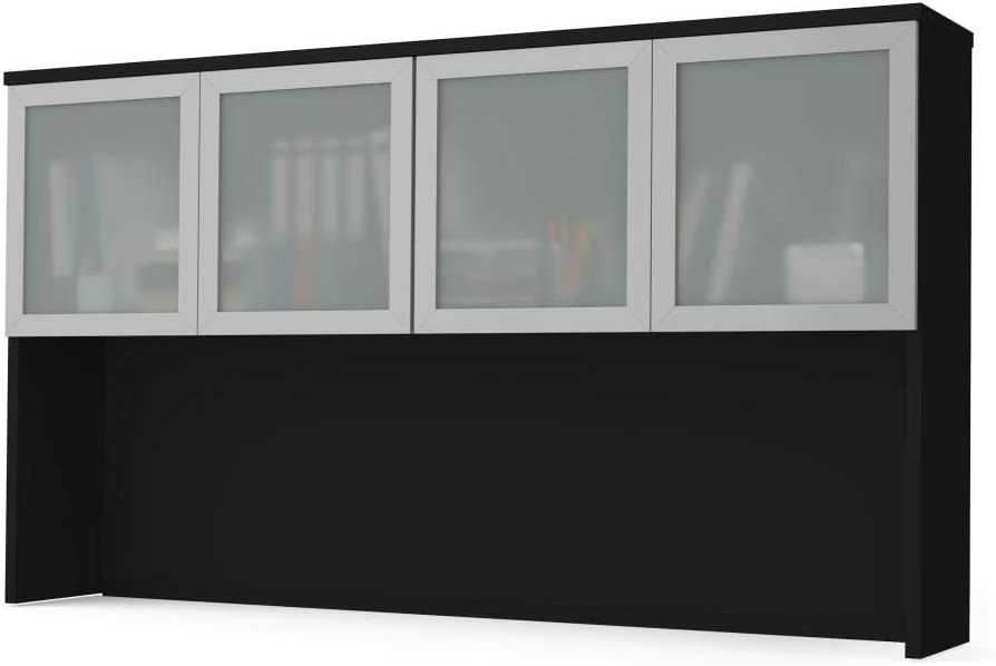 Bestar Regular dealer Hutch with Frosted Glass Doors Finally resale start - Plus Pro-Concept