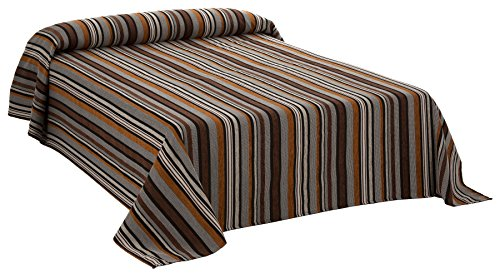Martina Home Foulard Multiusos / Plaid modelo RUMBA, color Marrón, 250 x 270 cm