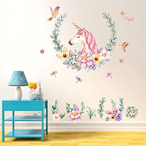 Potloden Unicorn Sticker Bedroom Living Room Sofa Background Decoratief Wallpaper PVC afneembare muur