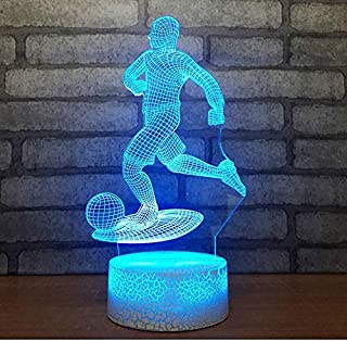 Loyal 3d Led Vision Creative 7 Color Changing Beach Volleyball Modeling Usb Desk Lamp Sports Home Decor Nightlight Light Fixture Gifts Night Lights