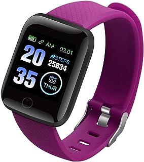 LAIYYI Färgskärm smartklocka, IP67 vattentätt smart Bluetooth-armband med fitnessmätare sömnmätare stegräknare blodtrycksm...