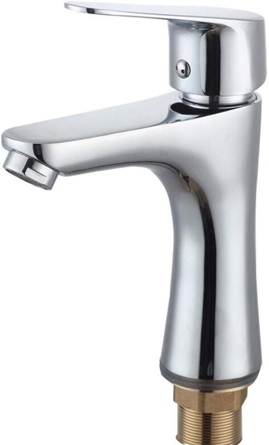 Bathroom Sink Basin Lever Mixer Tap Bathroom Washbasin Faucet Copper Washbasin Single Hole Cold and Hot Mixing Faucet