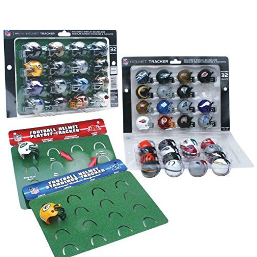 Riddell NFL Standings & Playoff Tracker mit 32 NFL Mini Helmen