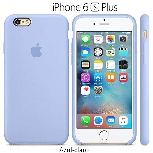 Funda Silicona para iPhone 6 Plus y 6s Plus Silicone Case, Logo Manzana, Textura...