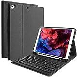 COO iPad 第8世代 キーボード ケース iPad 10.2 キーボード ケース 第7世代 ペンシルホルダー付き 2020/2019モデル Bluetooth キーボードカバー 脱着式 多角度調整 傷つけ防止 耐久性 iPad 8/iPad 10.2/iPad Air3/Pro 10.5と一緒に使用可能 (ブラック)