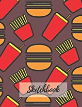 Sketchbook: Blank, Large (110 pages, 8.5 x 11 in) Burger and Fries Notebook for Drawing or Sketching. Fast food Sketchbook to Draw and Journal