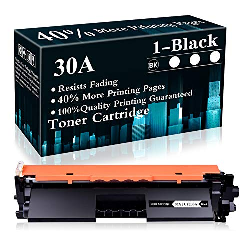 1 Black 30A | CF230A Toner Cartridge Replacement for HP Laserjet Pro M203dn M203dw M203d MFP M227sdn MFP M227fdw MFP M230sdn MFP M230fdw MFP M227fdn Printer,Sold by TopInk