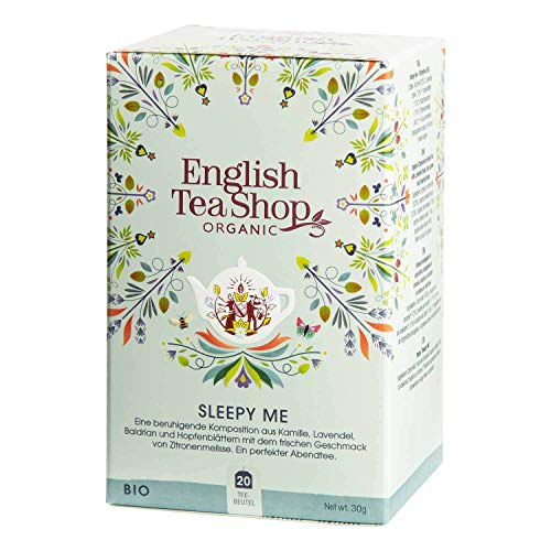 English Tea Shop Organic Caffeine Free Sleepy Me, 20 Sachet Tea Bags
