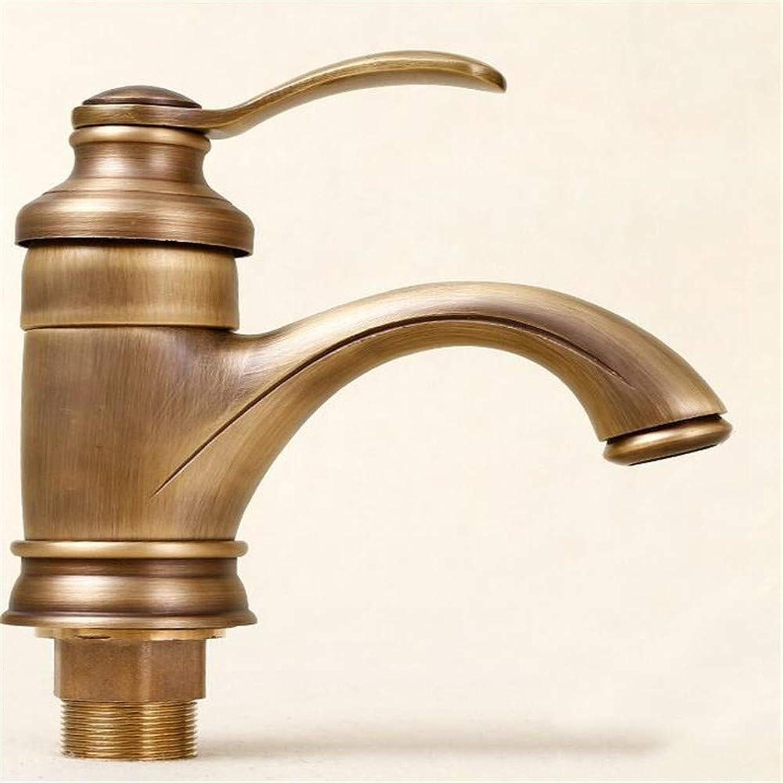 Basin Mixer Tap Antique Faucet European Copper Basin Hot and Cold