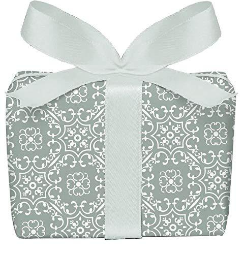 5er-Set Geschenkpapier Bögen UNIVERSAL in Olive GRÜN mit Ornamente zu jedem Anlass • Für Geburtstage, Hochzeit, Weihnachtsgeschenke, Adventskalender • Format : 50 x 70 cm