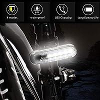 バイクフロントランプ、バイクヘッドライト、プラスチック製の頑丈で耐久性があり、ナイトサイクリングに便利ですバイクライトアクセサリー(white)