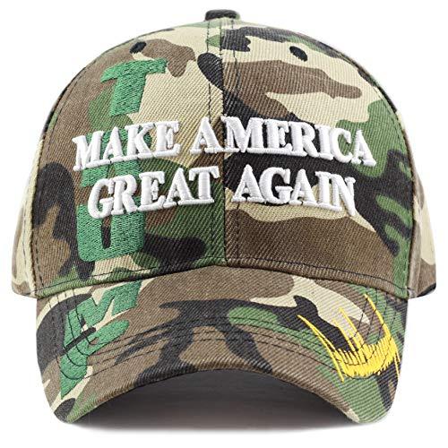 The Hat Depot Original exklusive Donald Trump 2020 'Keep America Great/Make America Great Again' 3D Cap - Gr�n - Einheitsgröße