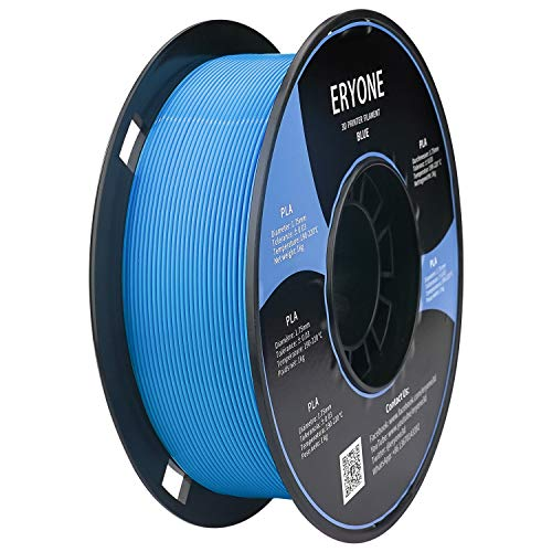 Filamento PLA 1.75mm, Eryone PLA Filamento 1.75mm, Stampante 3D Filamento PLA per Stampante 3D, 1kg 1 Spool, Blu