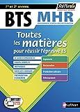 BTS MHR - Management en Hôtellerie Restauration - 1ère et 2e année - Toutes les matières (19)