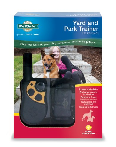 PetSafe Yard & Park Rechargeable Dog Training Collar with Tone and Static Correction, Waterproof, Up...