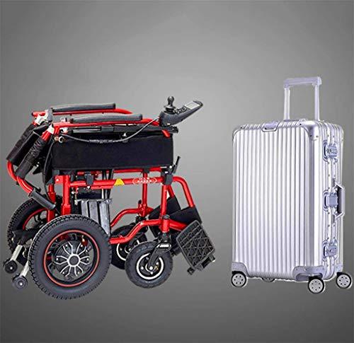 Rollstuhl für Mobilitätshilfe, Rollstuhl Rollstuhl, medizinische Reha-Stuhl for Senioren, Alte Menschen, Heavy Duty elektrisch betriebenen Rollstuhl for Erwachsene, zugelassen for Flugreisen, Folding