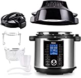 Buchy's Magic Pressure Cooker Air Fryer Combo - All-in-1 Multi-Cooker with Pressure & Crisp Lids Slow Cooker Steamer Air Fryer Broil Dehydrate and More 6 Quart Capacity