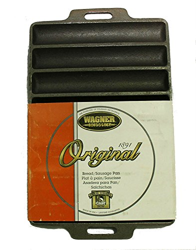 Wagner 1164 Non-Stick Cast Iron Bread and Sausage Pan