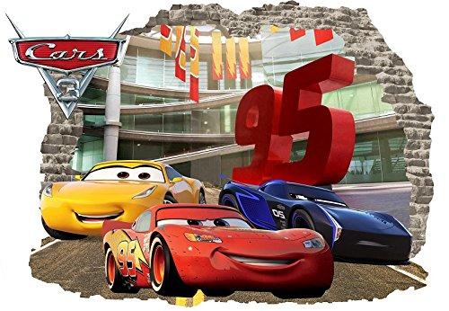 INFANS Wand Kinder Aufkleber Auto 3D Aufkleber Decor Disney Cars Raum Hot Großhandel von Crafts Lehrer Viel Geburtstag Vinyl Aufkleber Wandbild McQueen Größe 57cm x 80cm