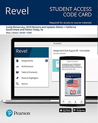 Revel for Living Democracy, 2018 Elections and Updates Edition + California Government and Politics Today-- Access Card