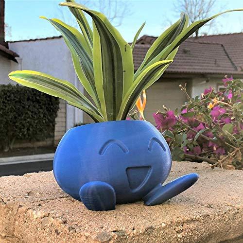 Oddish Planter Oddish Flower Pot Succulente Flower Pot Vaso da Fiori Planter DDD Shop (Color : Blue, Sheet Size : Small)