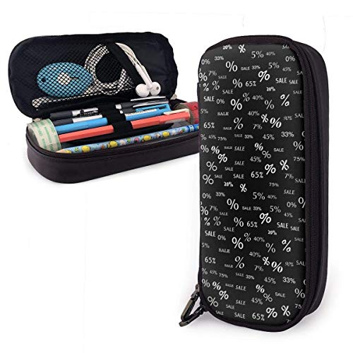 Korting Percentage en Hot Sales Lederen Potlood Case Rits Pen Bag Box Houder Studenten Grote Capaciteit Tas