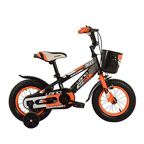 Kinderfahrrad Kinder Jungen Gilrs Fahrrad 12 Zoll Mit Stablizers Alter 3-5Y Workout-Maschine (Color : Orange)