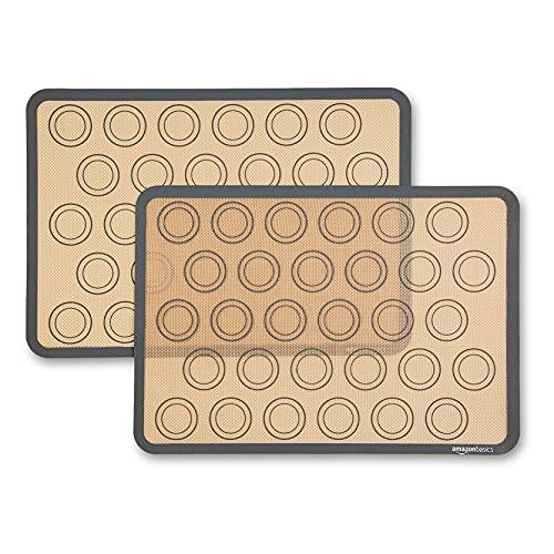 Amazon Basics - Backmatte für Macarons aus Silikon, 2 Stück