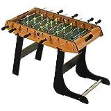 Homcom Baby-Foot Table de Babyfoot Pliable dim. 98L x 42l x 62H cm 2 balles fournies MDF Imitation Bois et Noir