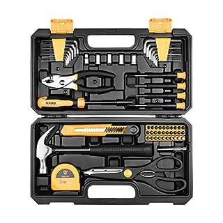 scheda set di utensili deko 62 pezzi kit di attrezzi per la mano per uso domestico generico con custodia di plastica