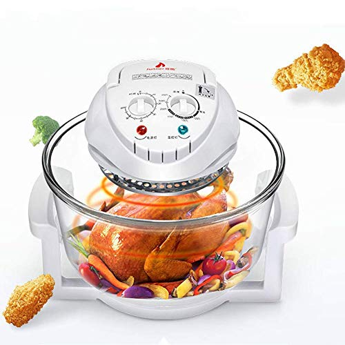 YQCX 1300W 12L Multifunctional Light Wave Air Fryer/Conventional Infrared Oven/Baking Air Fryer/Turbo Electric Stew Pot/Adjustable Temperature Control, Oil-Free or Low-Fat Healthy Cooking, (W