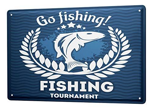 LEotiE SINCE 2004 Plaque en Métal Métallique Poster Mural tin Sign Maison Pêcheur Aller à la pêche La Pêche Sportive Haute Mer