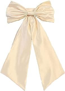 Sash Belt for Flower Girl Dresses with Big Bow Stain Girls Bow Belt