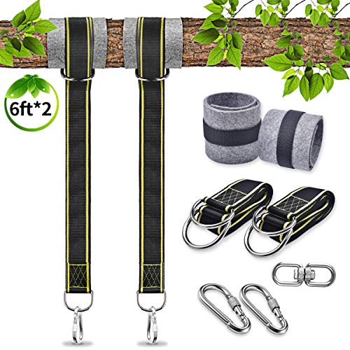 Tree Swing Hanging Kit Holds Max 2200lbs 6ft Extra Long, 2...