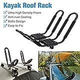 SOWLFE 2 Piezas/Paquete de portaequipajes de Kayak para Canoa, esquí, Sup, Tabla de Surf, Porta Kayak, Herramienta de Transporte Universal de Montaje en Techo Plegable en automóvil, SUV y camión