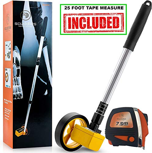 Scuddles Collapsible Measuring Wheel Measures Up To 10,000 Feet...