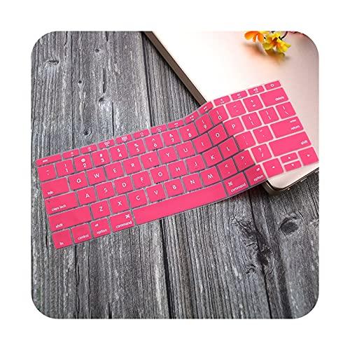 Funda de silicona para teclado MacBook Pro 13 pulgadas A1708 (no Touch Bar) para Mac book Pro 13.3 A 1708-rosa