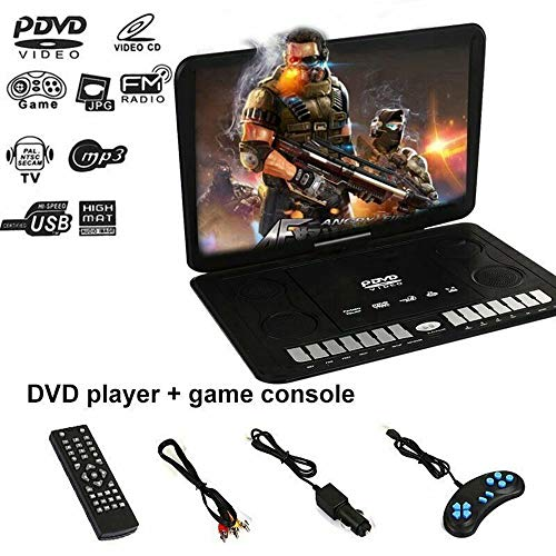 Lowest Price! NYW Portable 13.9 LCD Screen Mobile DVD Gaming Player FM TV Function 16:9 Display