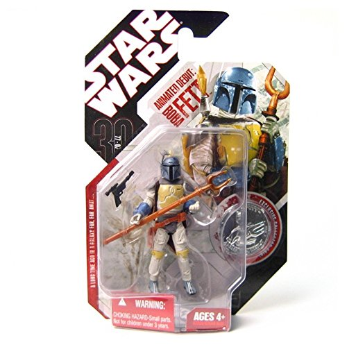 Star Wars 30th Anniversary Animated Boba Fett Figure, NM