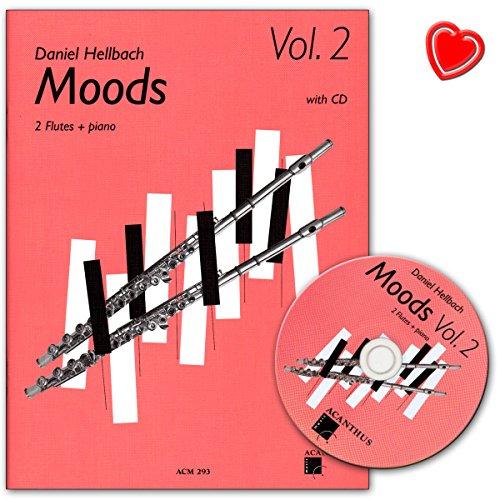 Moods Band 2 mit CD - 10 mittelschwere poppig-rockige Stücke für 2 Querflöten - Notenbuch mit Notenklammer