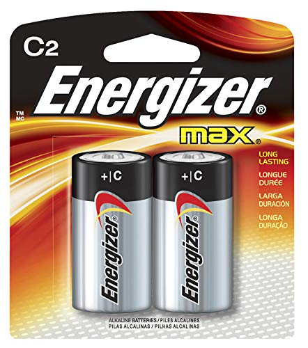 Energizer MAX C Alkaline Batteries, 2-Count