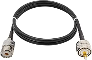 ALLiSHOP UHF Extension Cable PL-259 Male to SO-239 Female Connectors with RG58 Coax Cable 3 Meters 10 Feet for CB/Ham Ante...