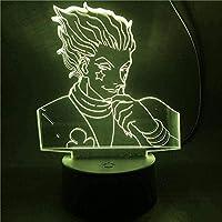 giyiohokフェアリーテイルルーシーナツアニメ3Dナイトライトリモコン付き16色LEDタッチライトテーブルランプ寝室の装飾ライト子供のギフト-N3-N22